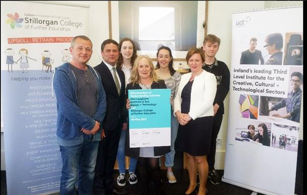 Building on the close relationship that Stillorgan CFE has had with IADT, Dun Laoghaire over the years, on the the 8 May, Stillorgan CFE signed a formal Memorandum of Understanding (MOU) with IADT.