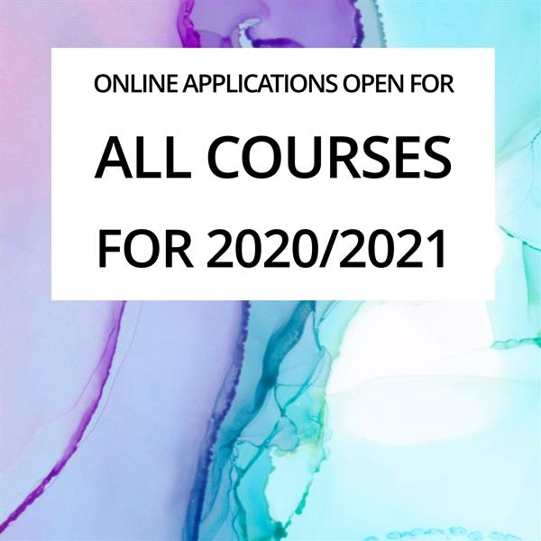 Online Applications Open for All Courses for 2020/2021